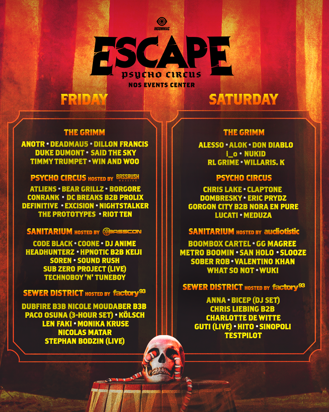 Escape Psycho Circus Halloween Rave 2019