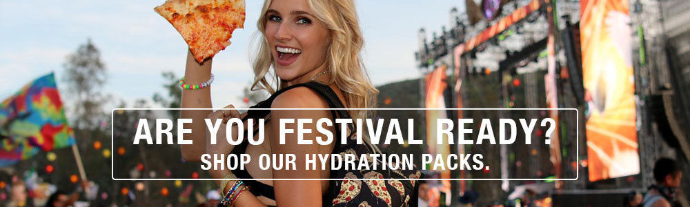 Get ready with our festival water packs