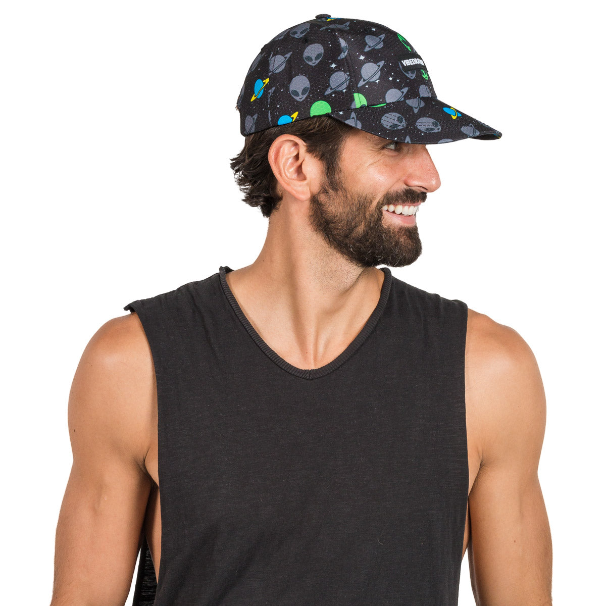 Adjustable Alien Printed Hat for Festivals