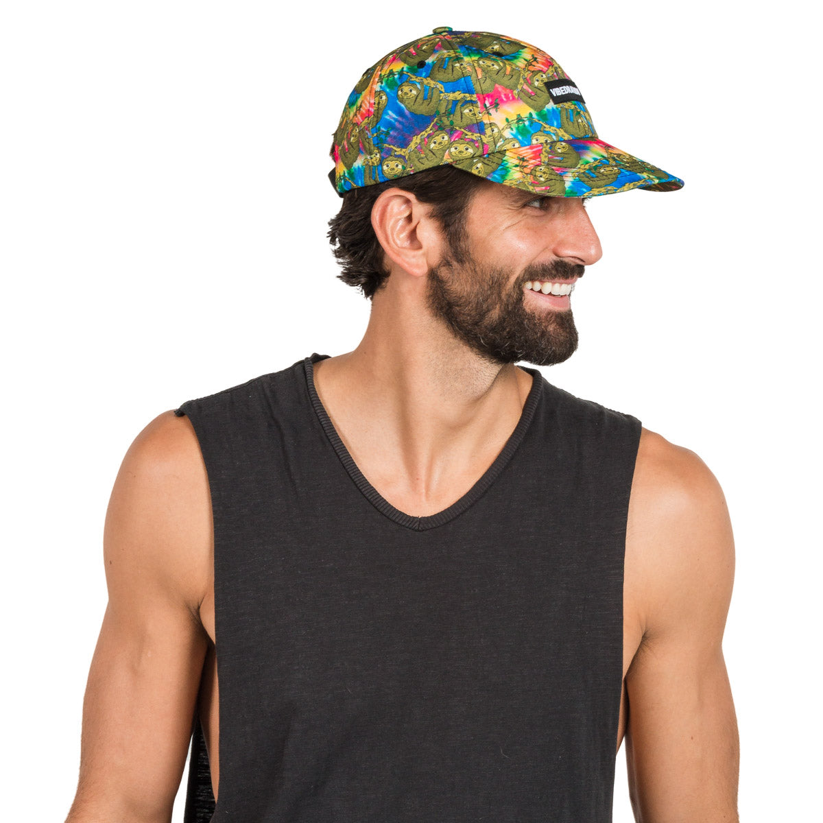 Adjustable Tie-Dye Sloth Printed Hat