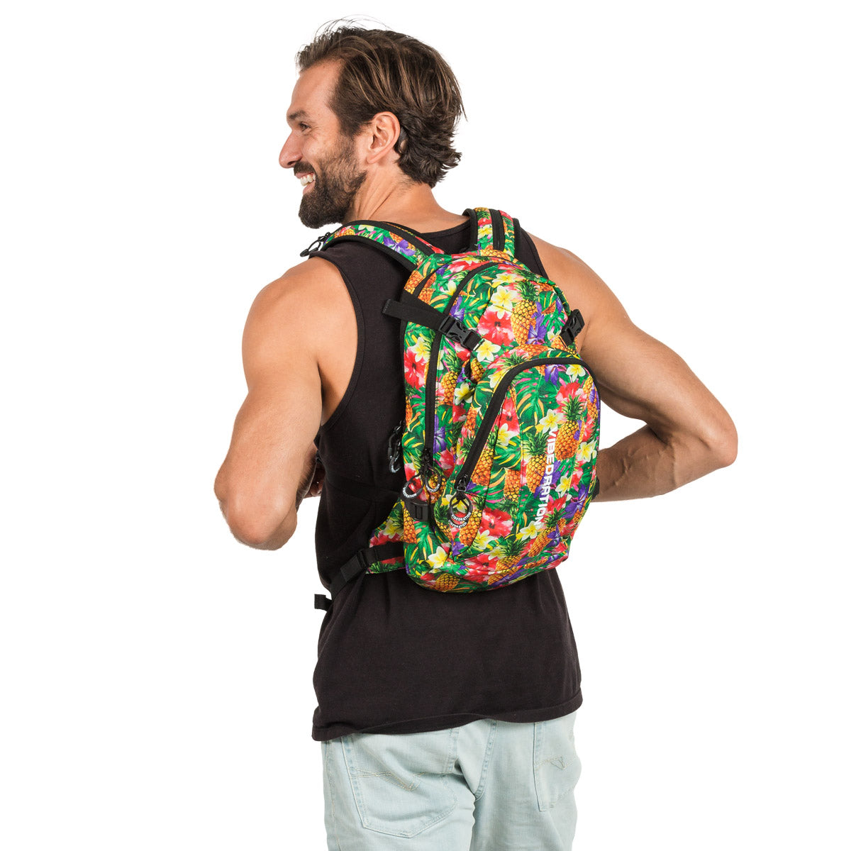 Hawaiian printed Camping Hydration Pack