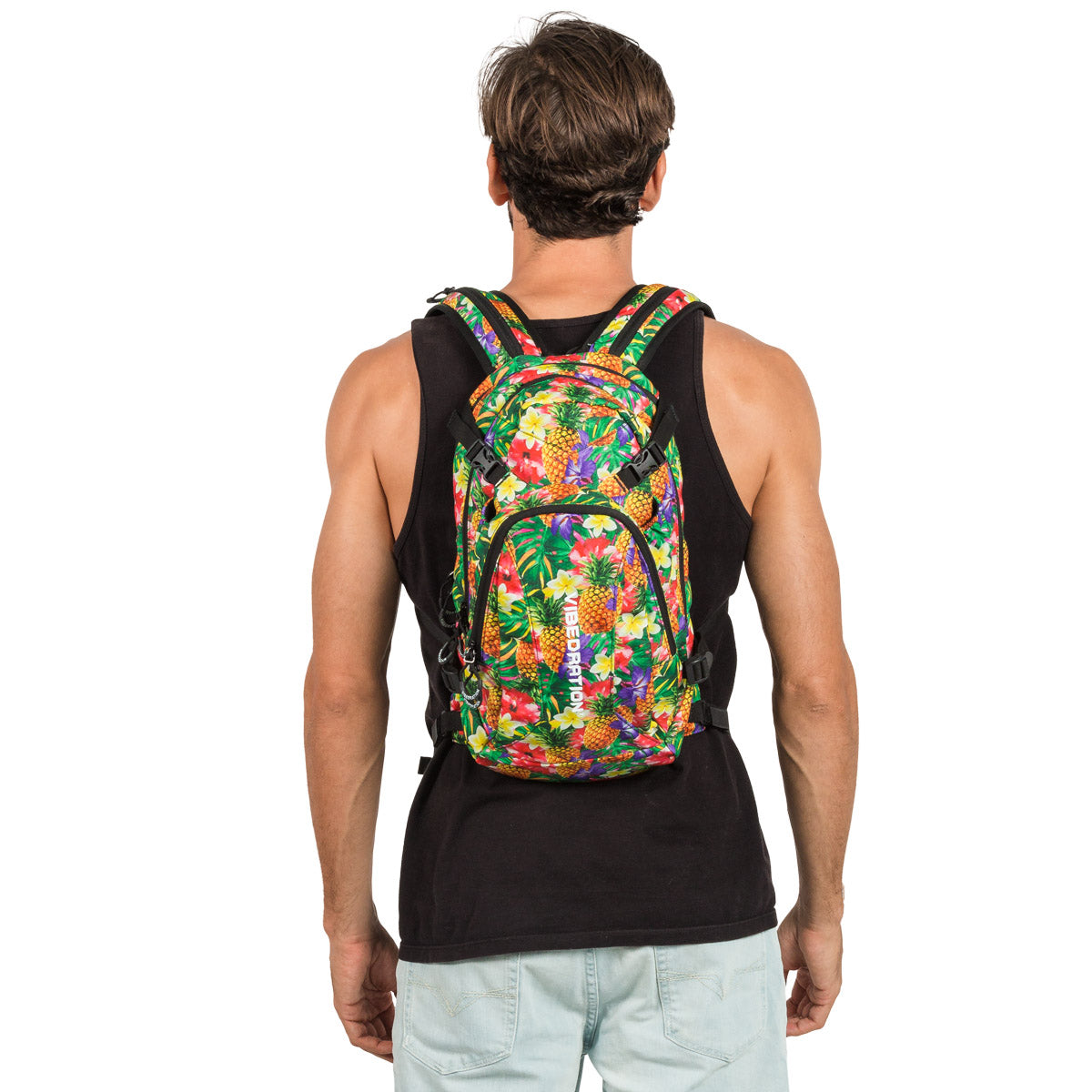 Tropical Pineapples Printed Hydration Pack for Camping Music Festivals