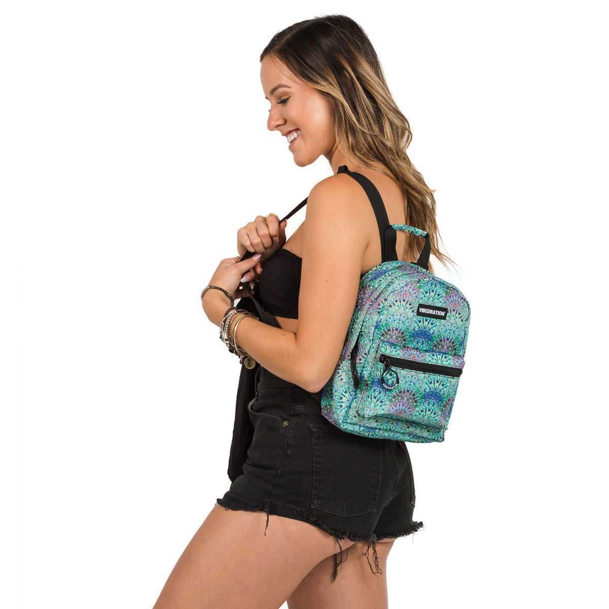Bohemian Printed Mini Backpack for Music Festivals