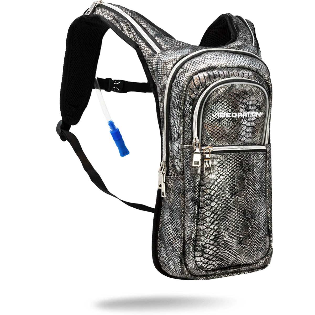 Black and silver water backpack for Burning Man