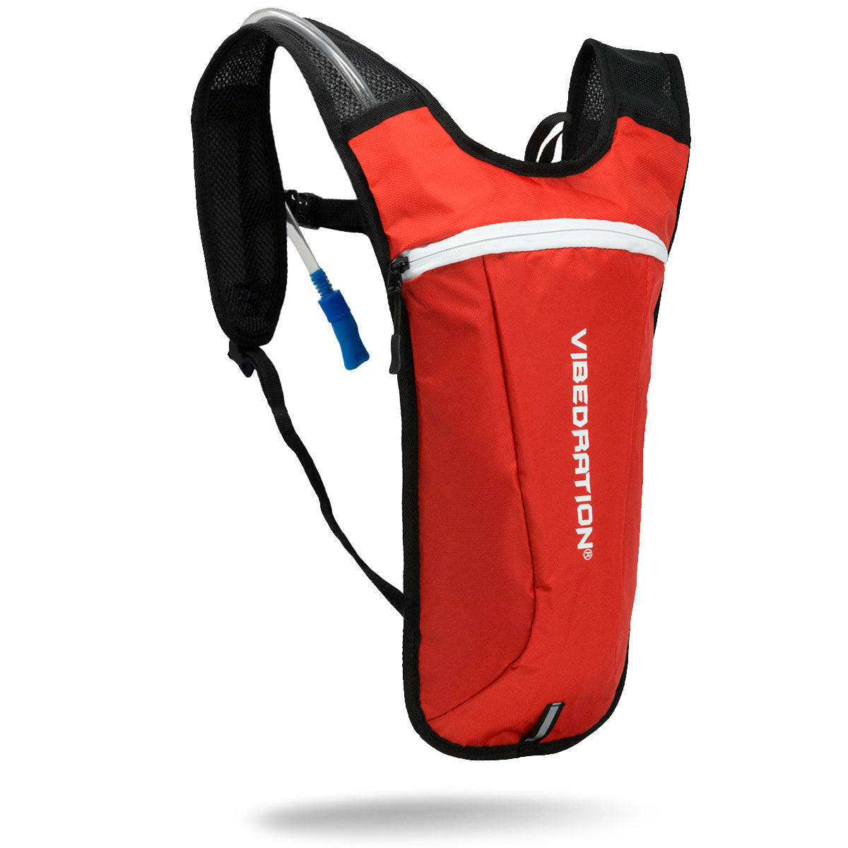 2 Liter water capacity red and white hydration pack for raves