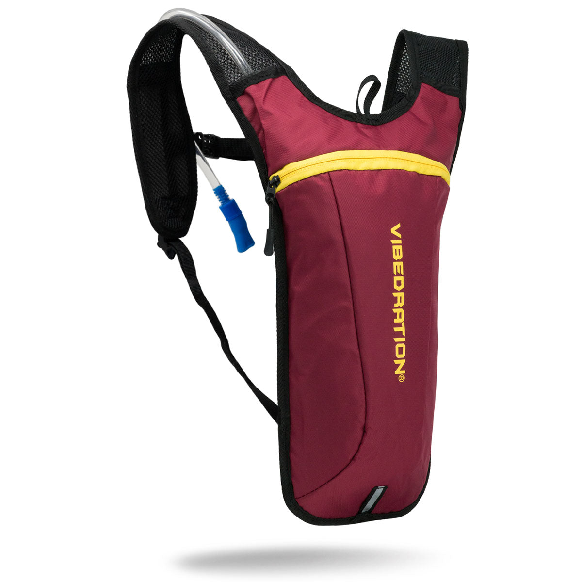 Maroon and gold hydration pack two liter hydration pack for raves