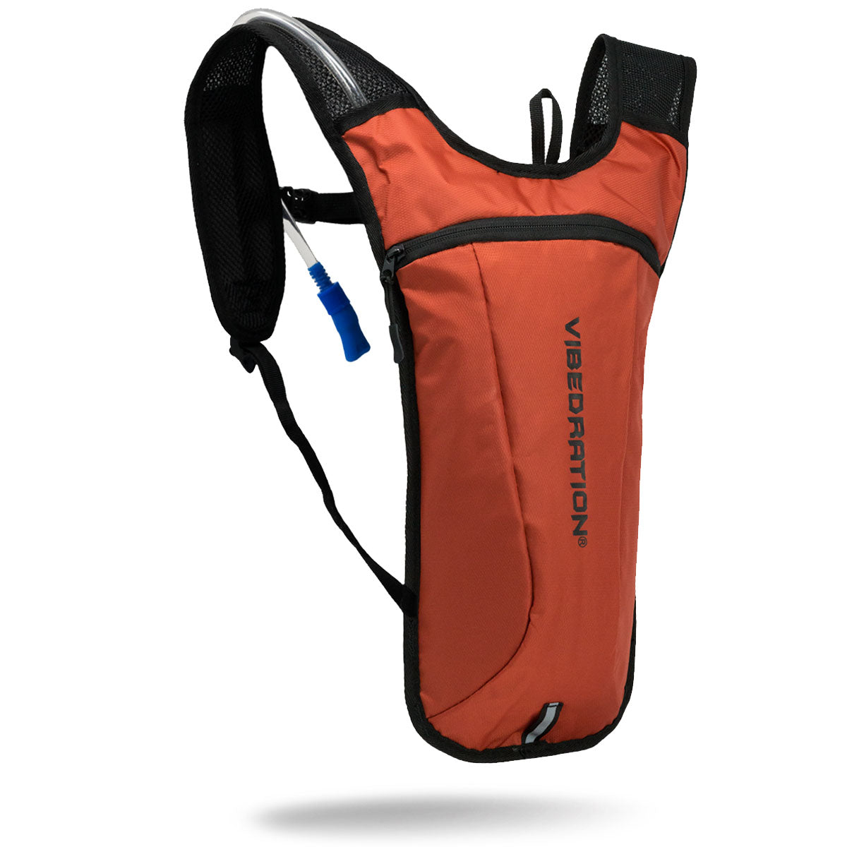 Black and orange lightweight 2 liter hydration backpack.