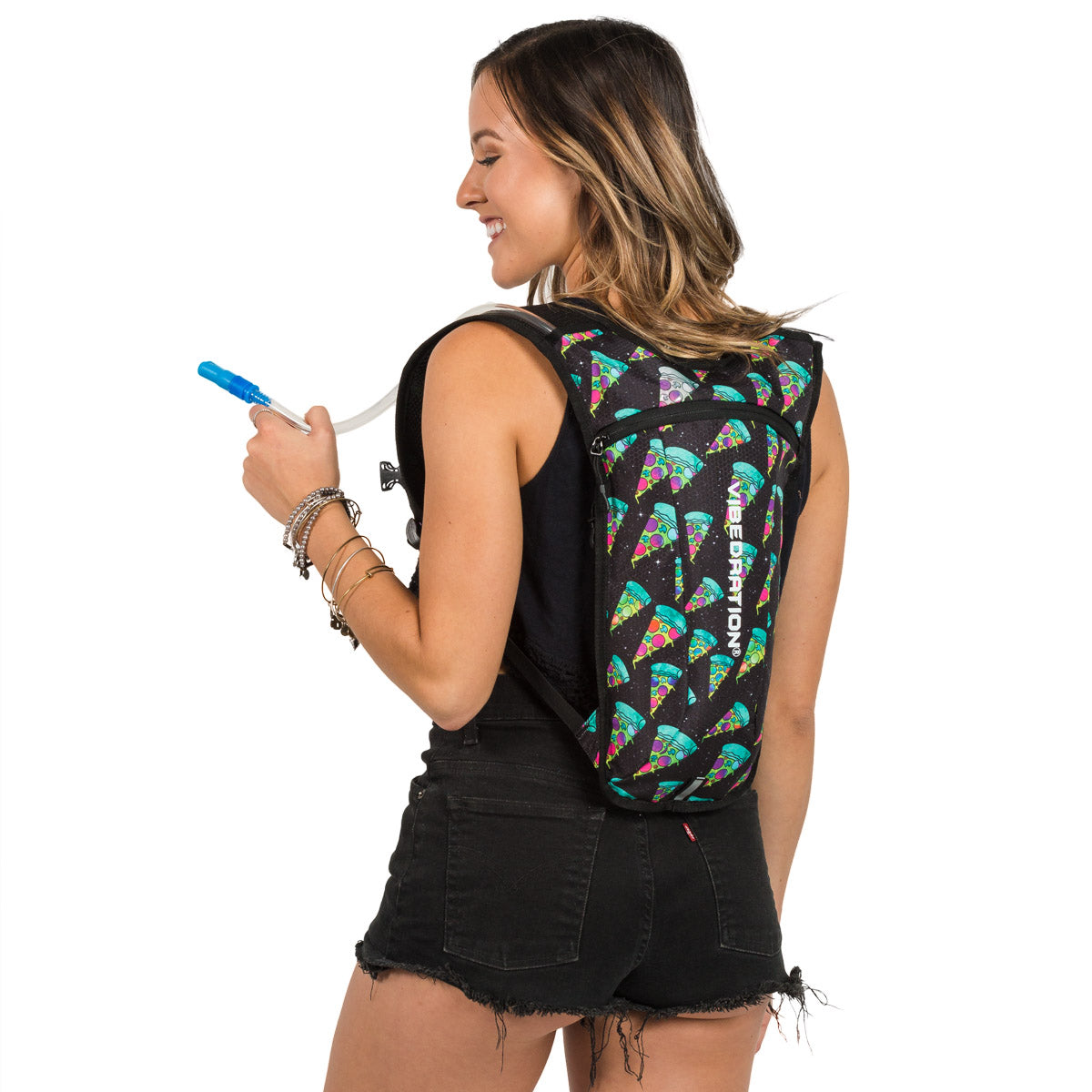 Cosmic Pizza Hydration Pack for Music Festivals
