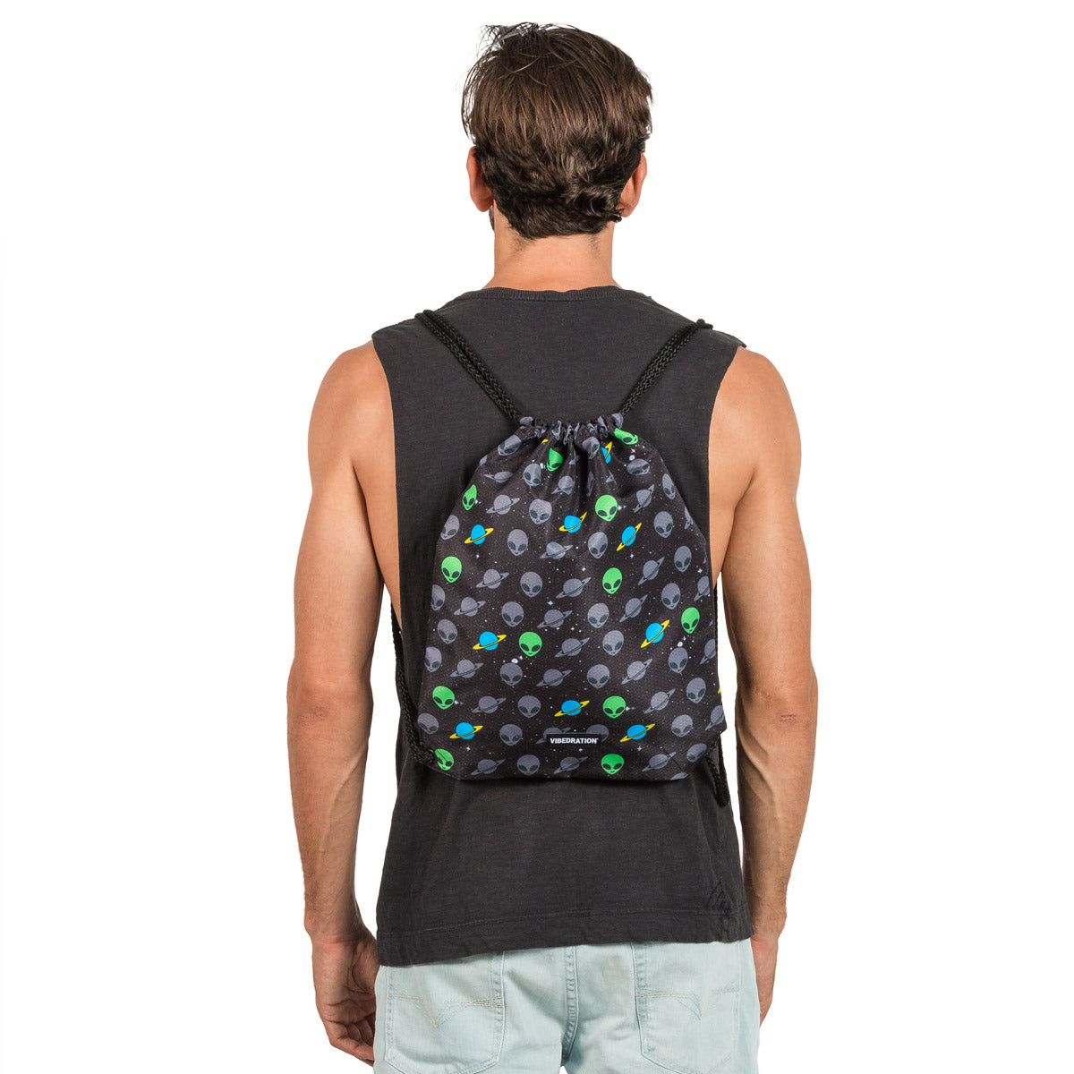 Alien Drawstring Bag for Festivals