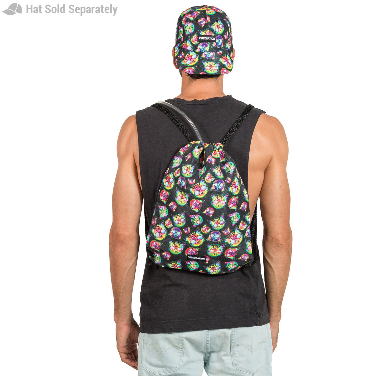 Printed Drawstring Bag with two liter Bladder