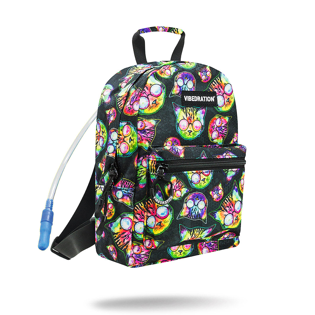 cute mini rave cat hydration backpack 1 liter hydration bladder