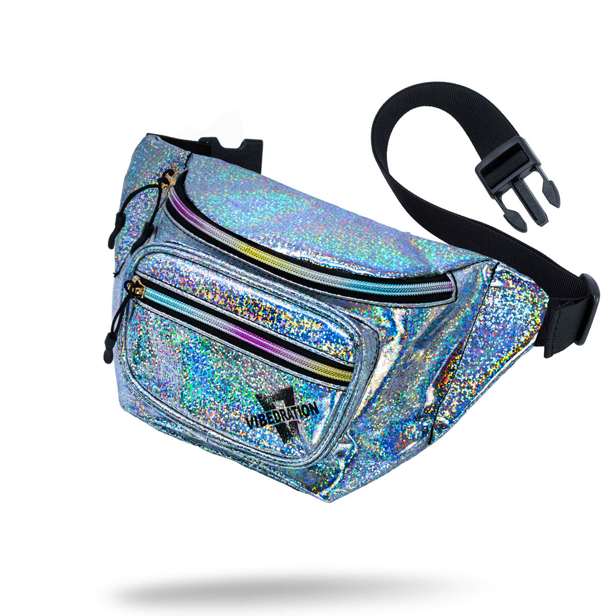 Silver Holographic Fanny Pack