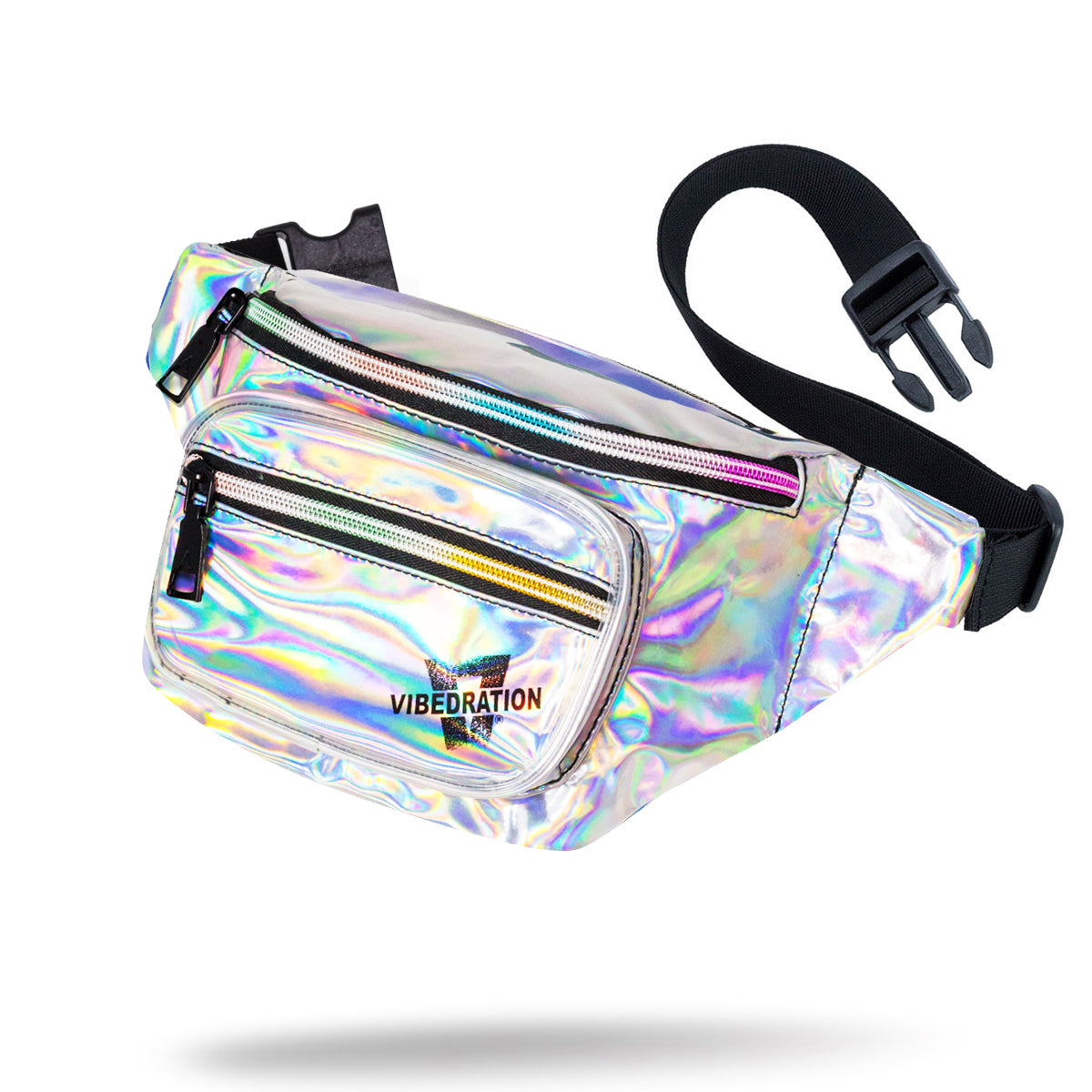Silver Holographic Fanny Pack for Raves