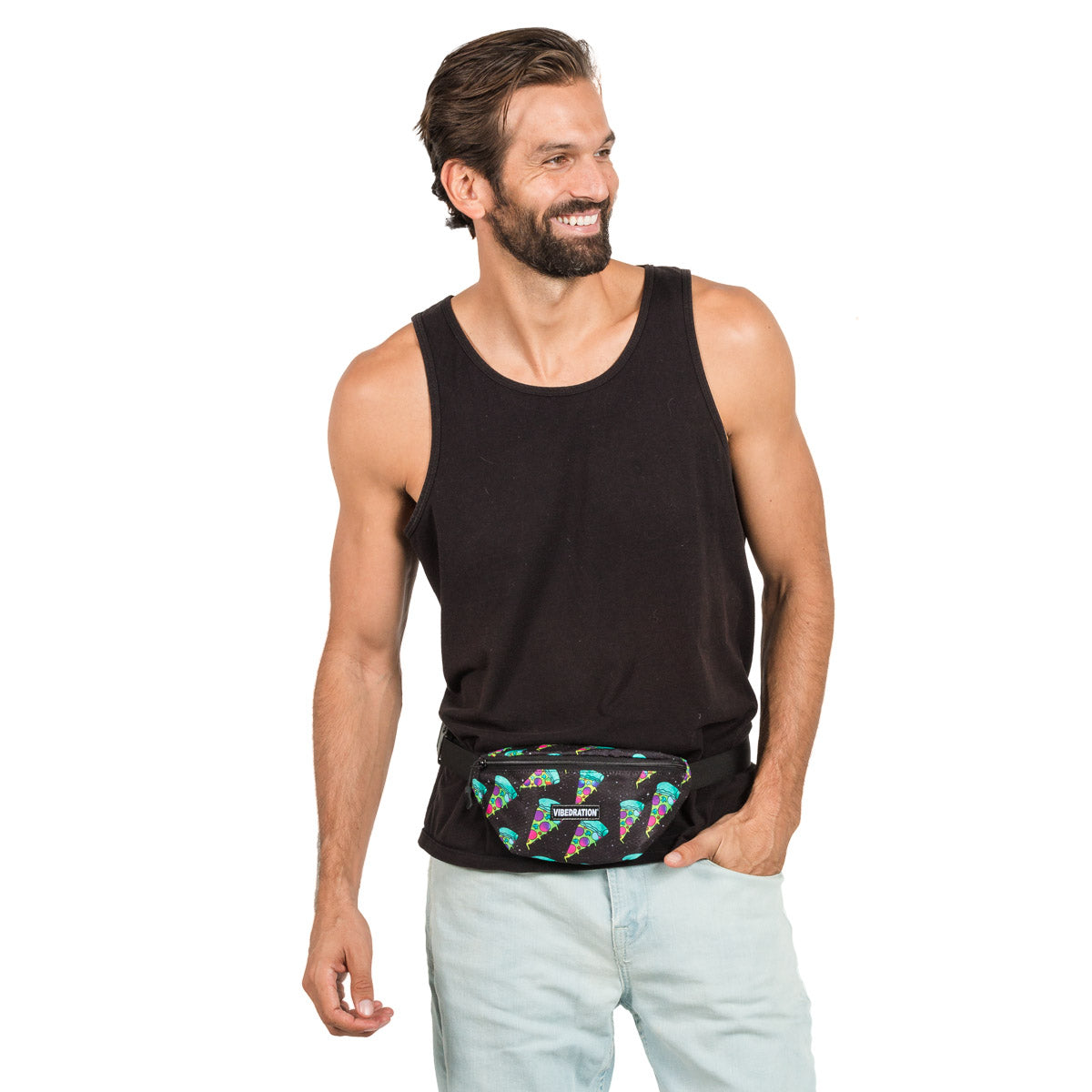 Pizza Printed Rave Fanny Pack