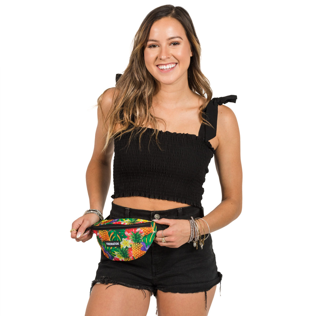 Tropical Pineapples Printed Fanny Pack
