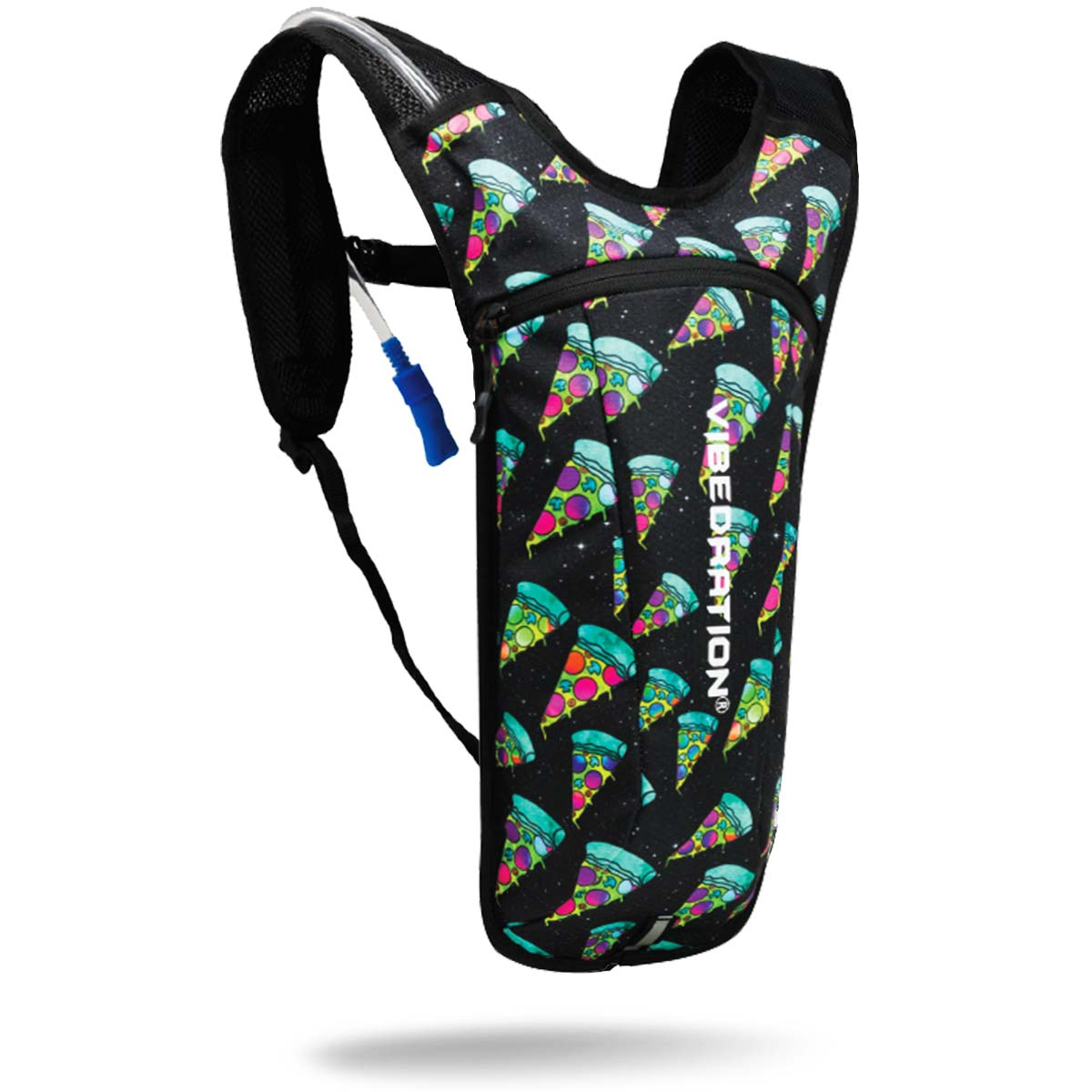 Black Pizza Hydration Pack with 2 Liter water reservoir