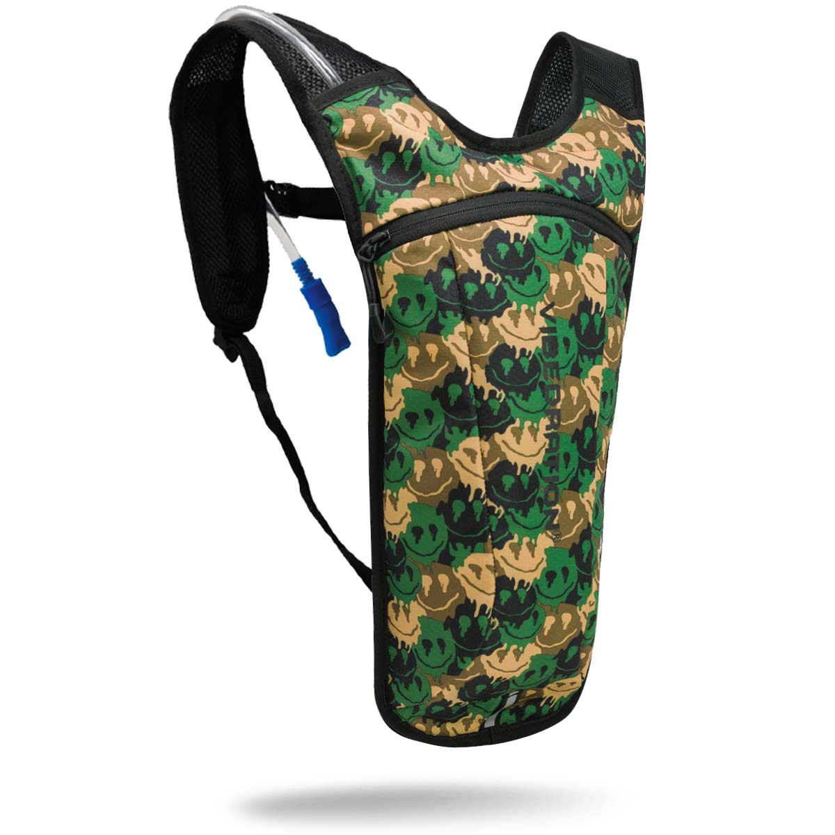 Camo water backpack with two liter hydration bag