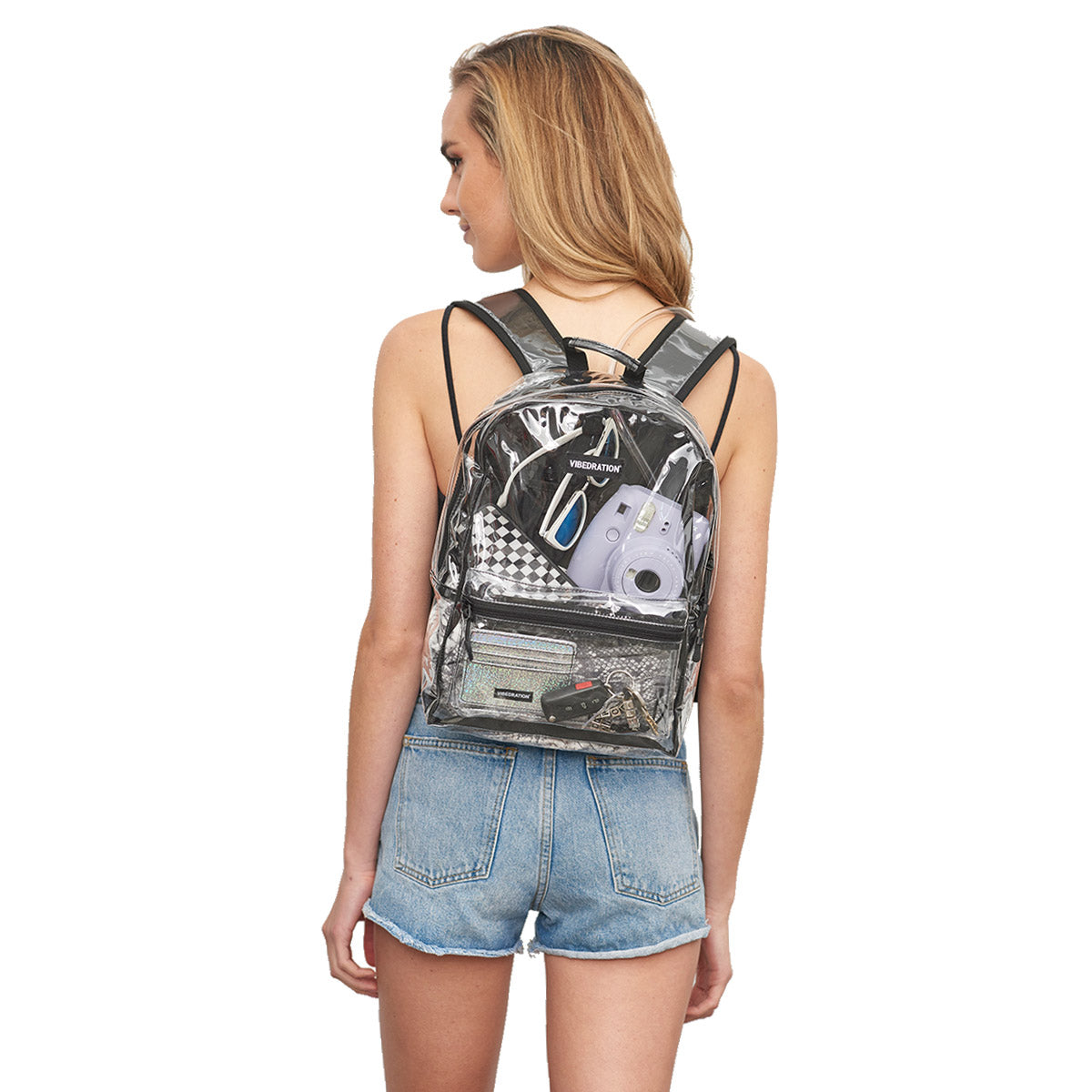 See-through hydration backpack