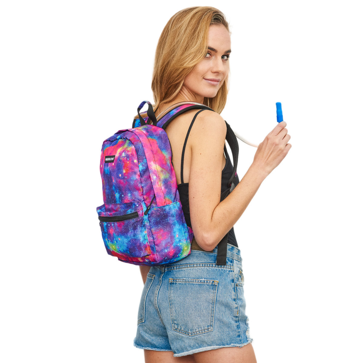 Female wearing 2 Liter Galaxy Hydration Pack