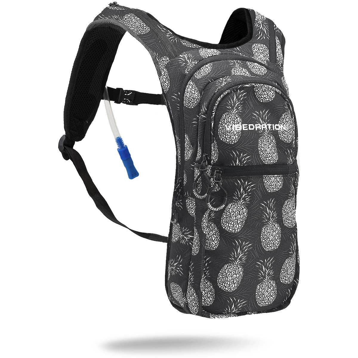 Black and white pineapple hydration backpack VIP 2.0L