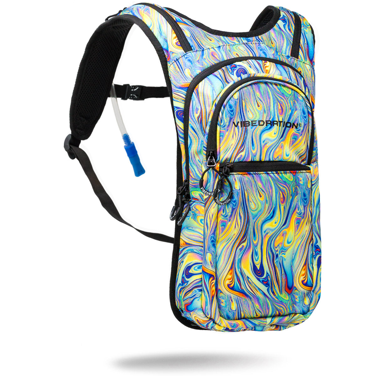 Psychedelic Marble Printed Hydration Pack with 2 Liter water capacity