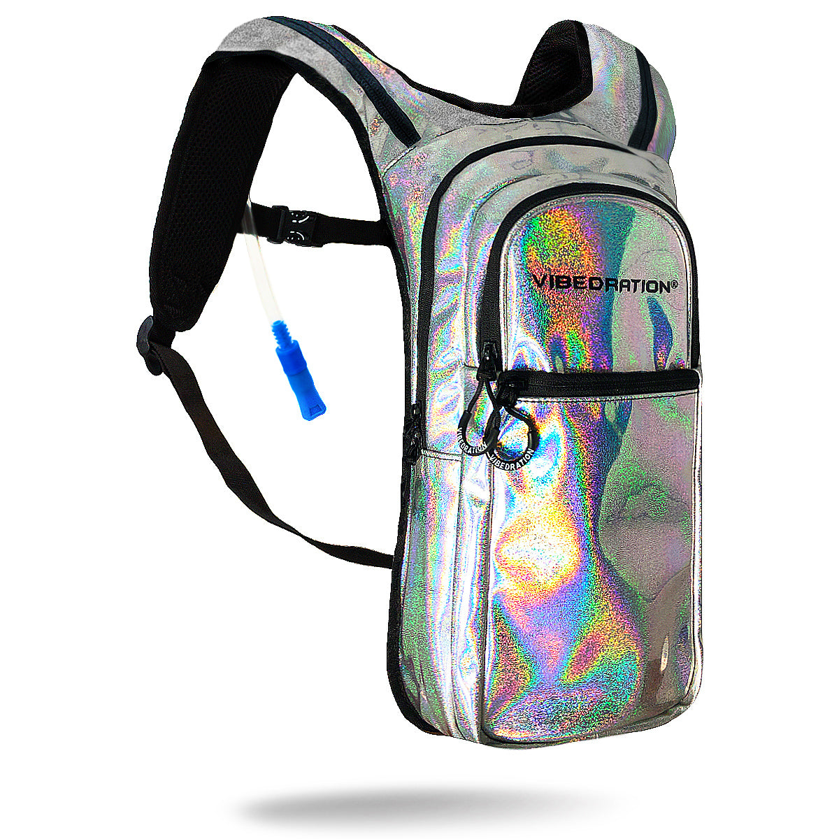 Silver Luxe VIP 2.0L EDC Festival Hydration Hollagraphic Pack