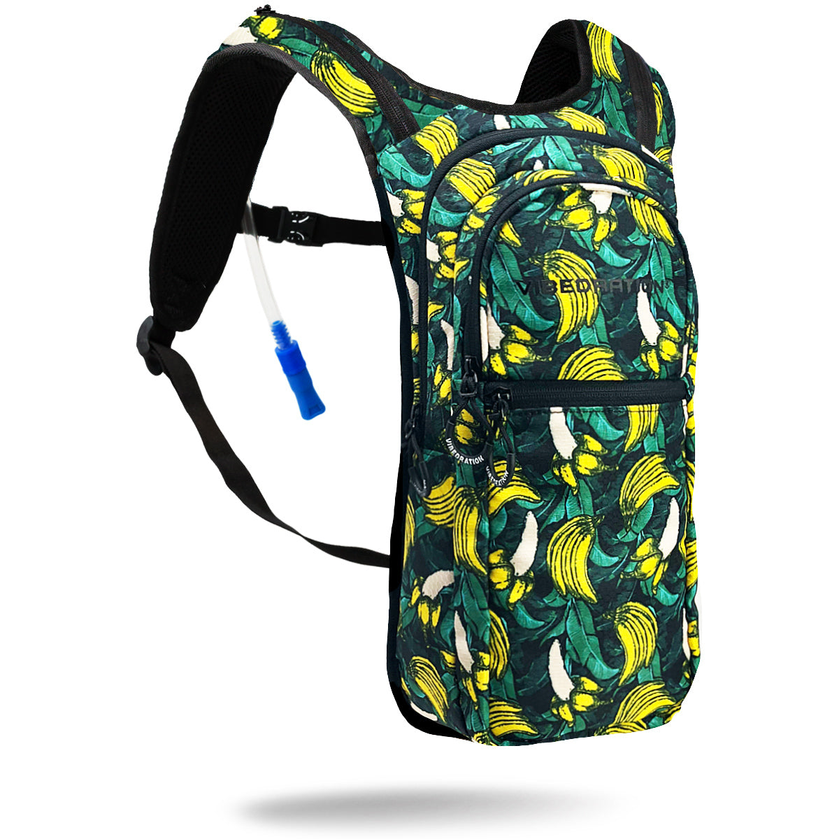 Green Tropical Banana Printed VIP 2.0L Festival Hydration Backpack