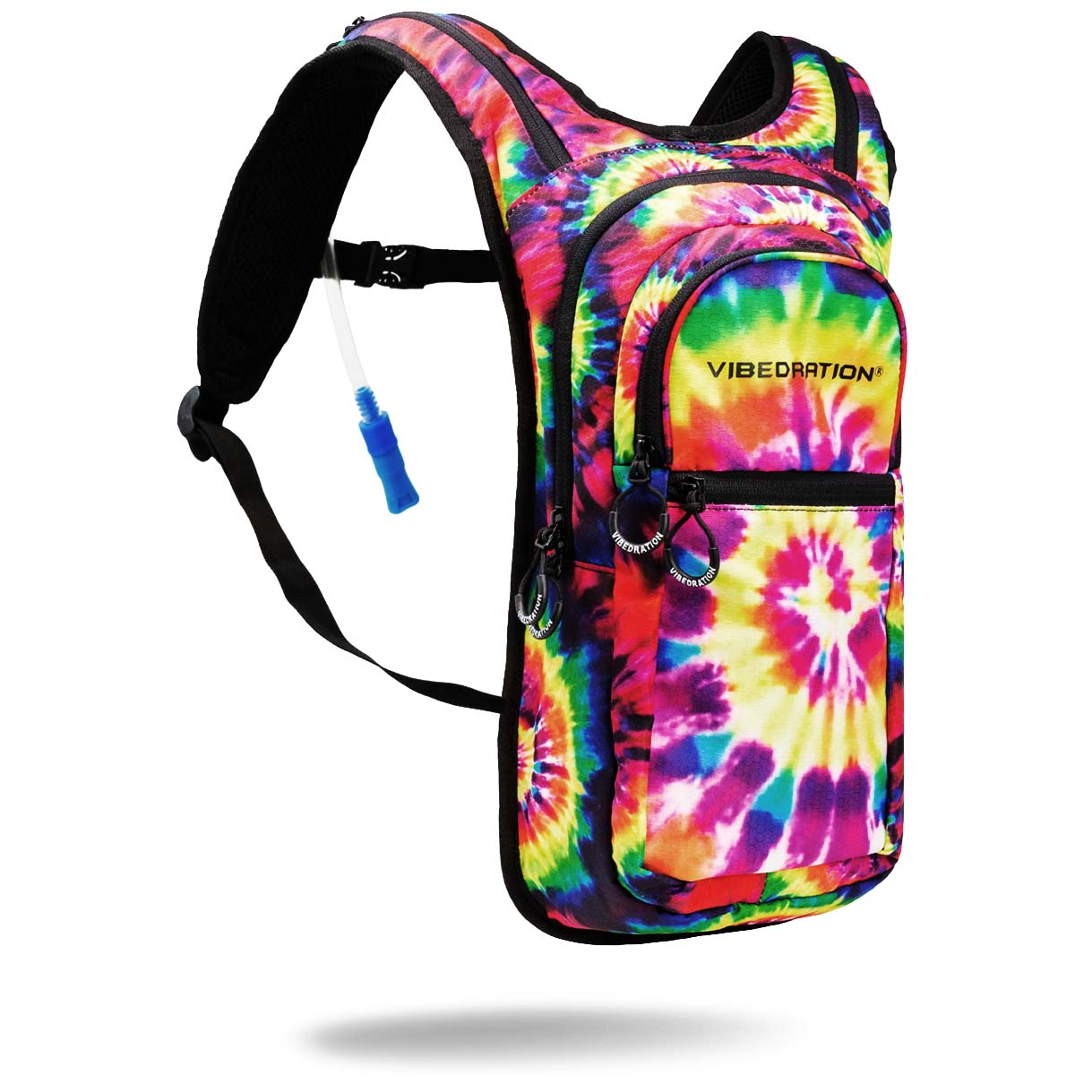 Two Liter Tie Dye Printed Hydration Backpack for festivals
