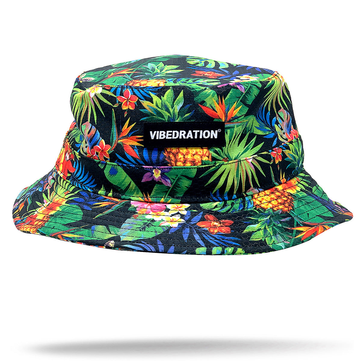 tropical festival rave bucket hat