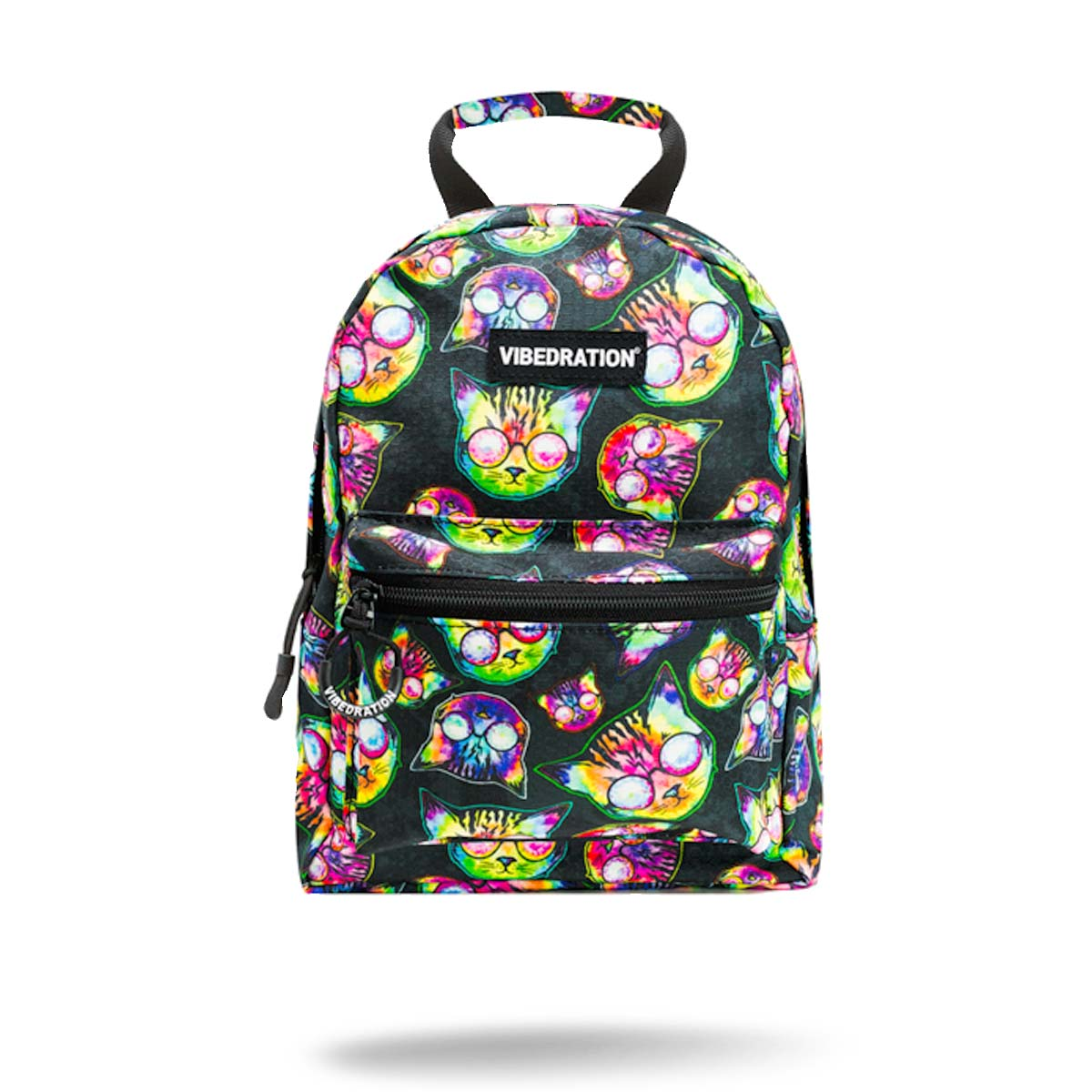 Printed cat mini backpack