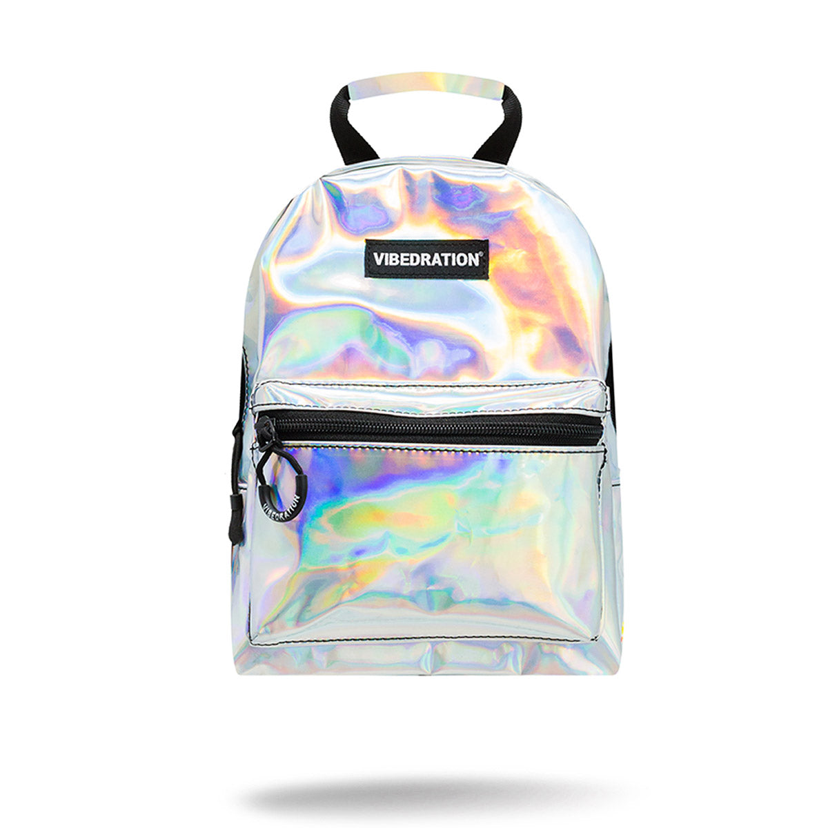 Holographic Silver Mini Backpack for Music Festivals