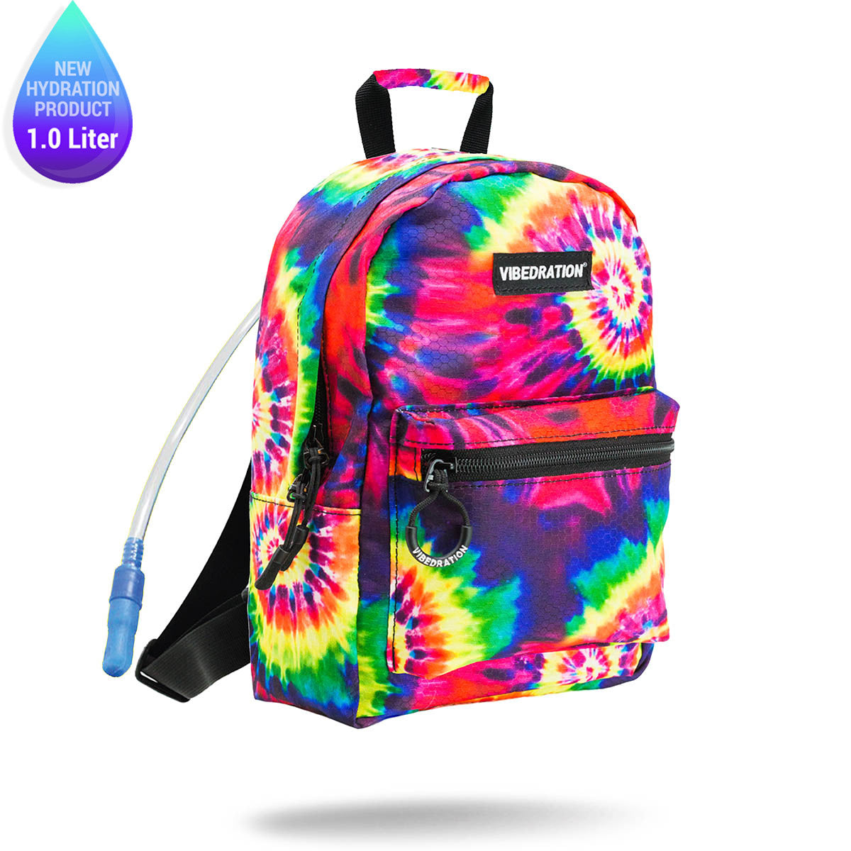 Tie-Dye Printed Mini Backpack with One Liter Water Bladder