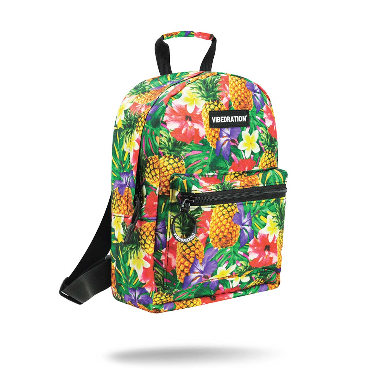 Tropical Pineapples Mini Backpack for Raves