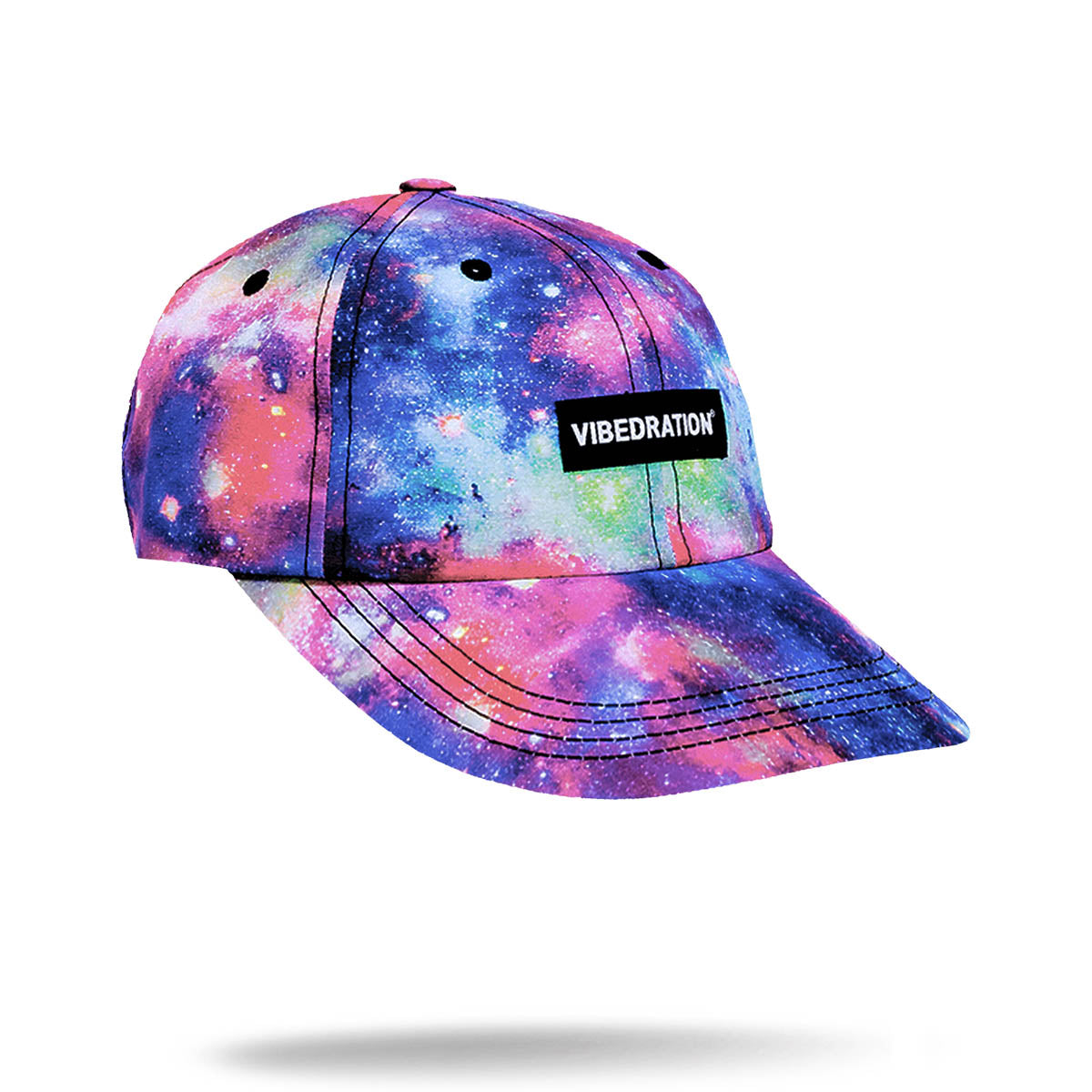 Pink purple and blue galaxy printed hat