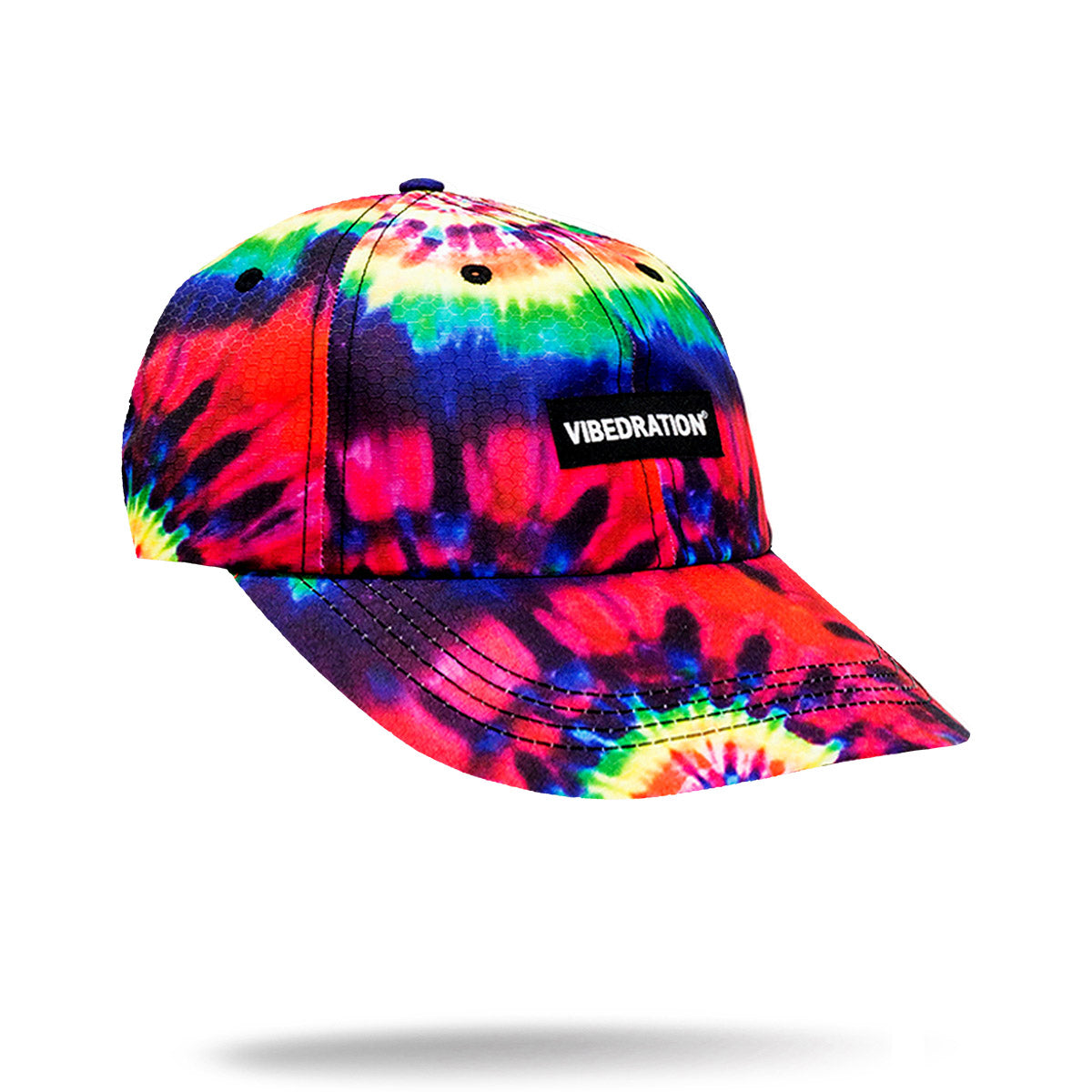 Red Yellow and Blue printed tie-dye hat