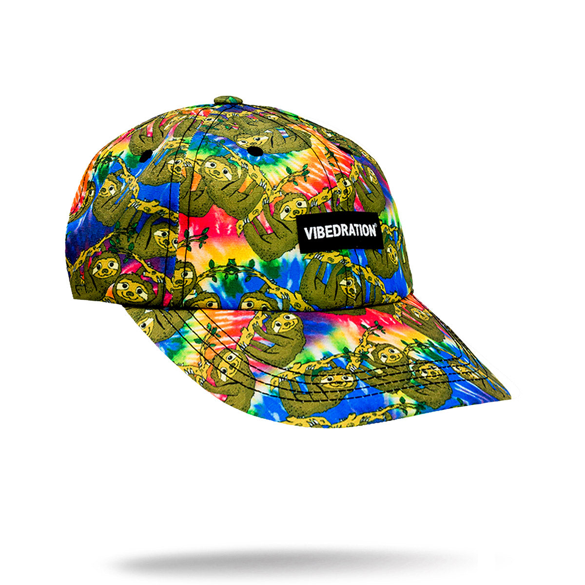 Tie Dye Sloth Printed hat for festivals