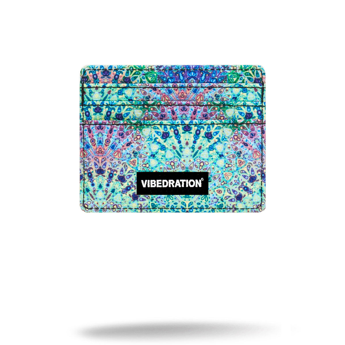 Blue and green Boho printed Card Holder