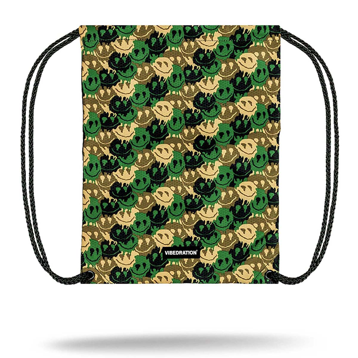Camo Printed Drawstring Bag
