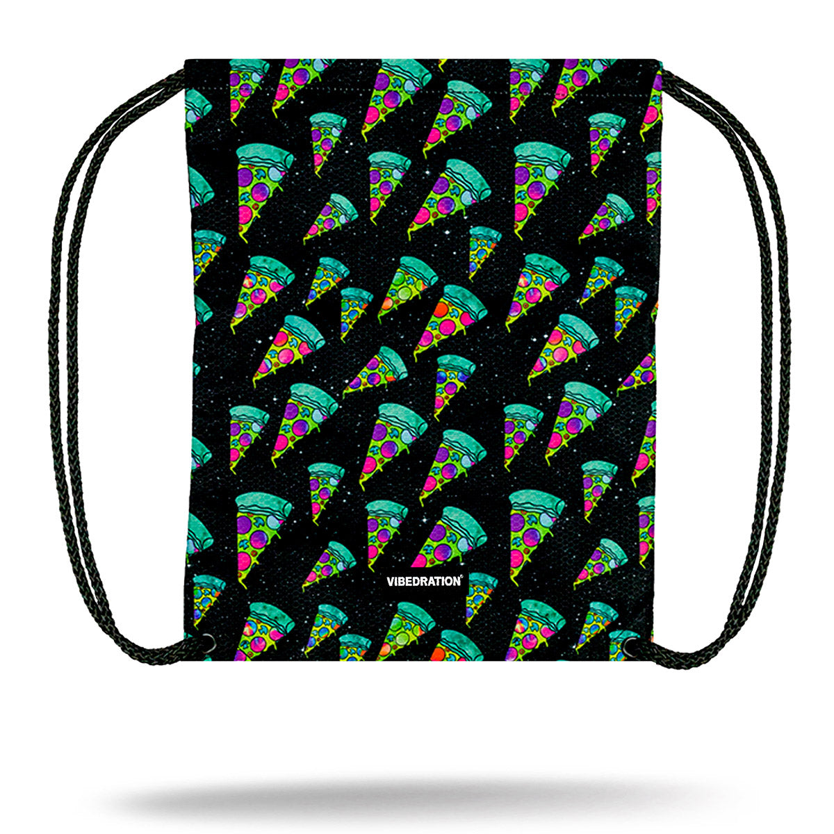 Festival Pizza Drawstring Bag