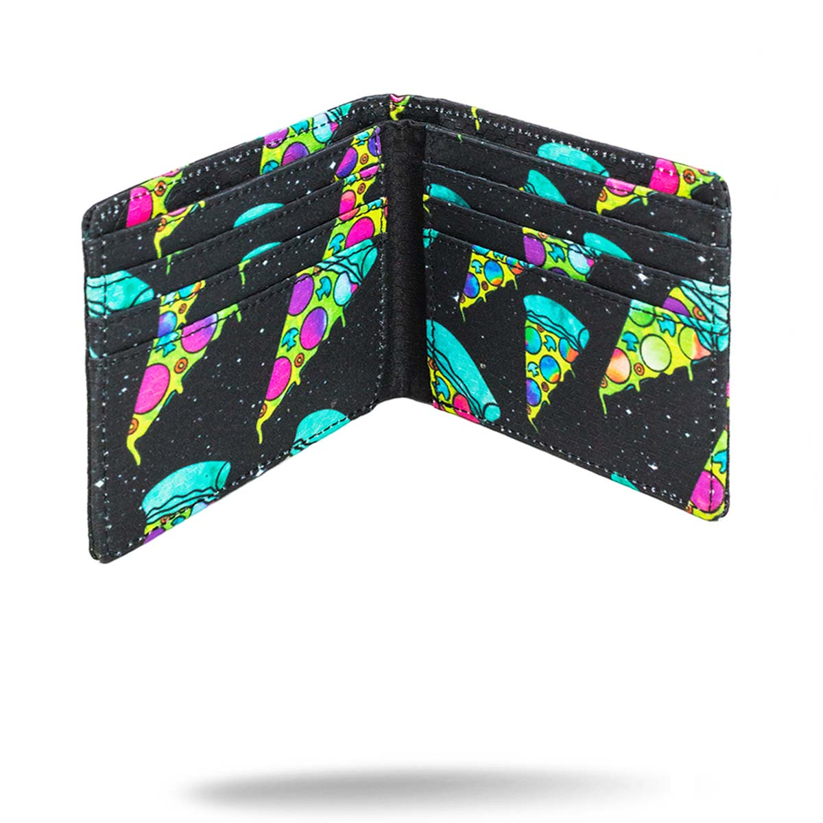 Inside view of printed pizza wallet