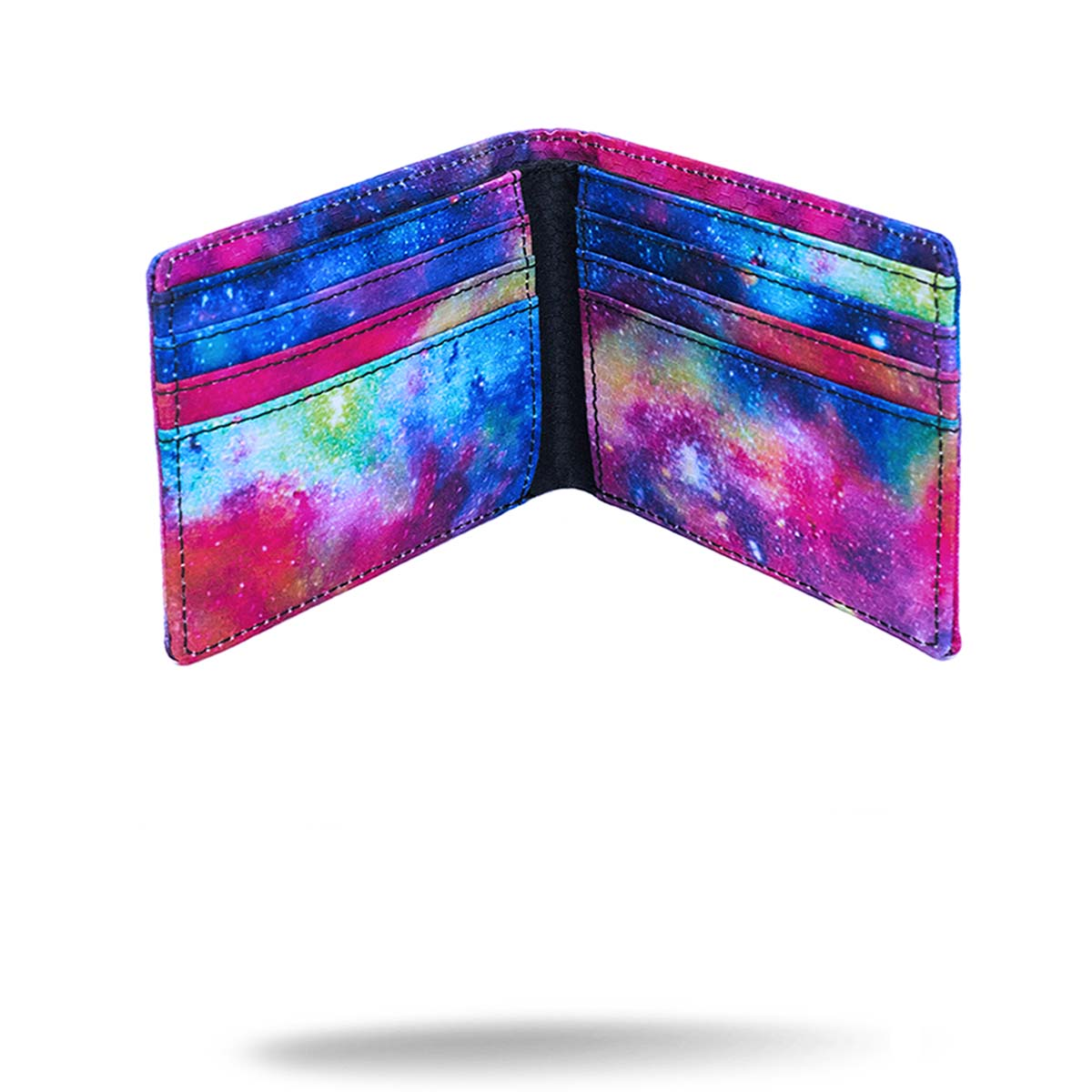 Inside view of galaxy printed wallet