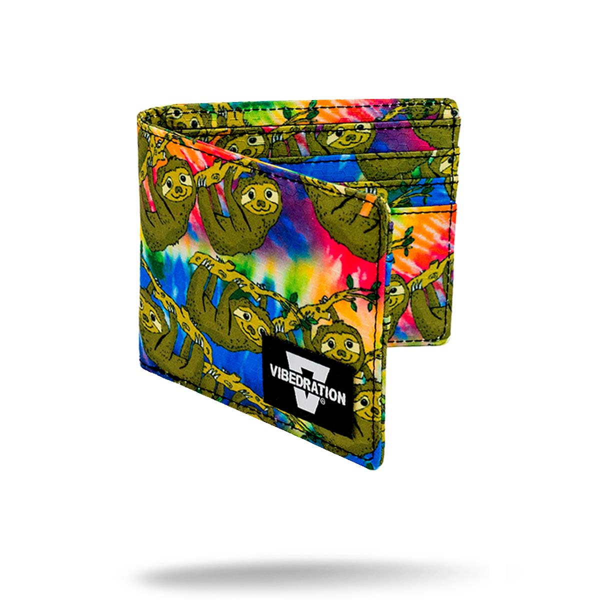 Tie Dye Sloth Printed Folding Wallet