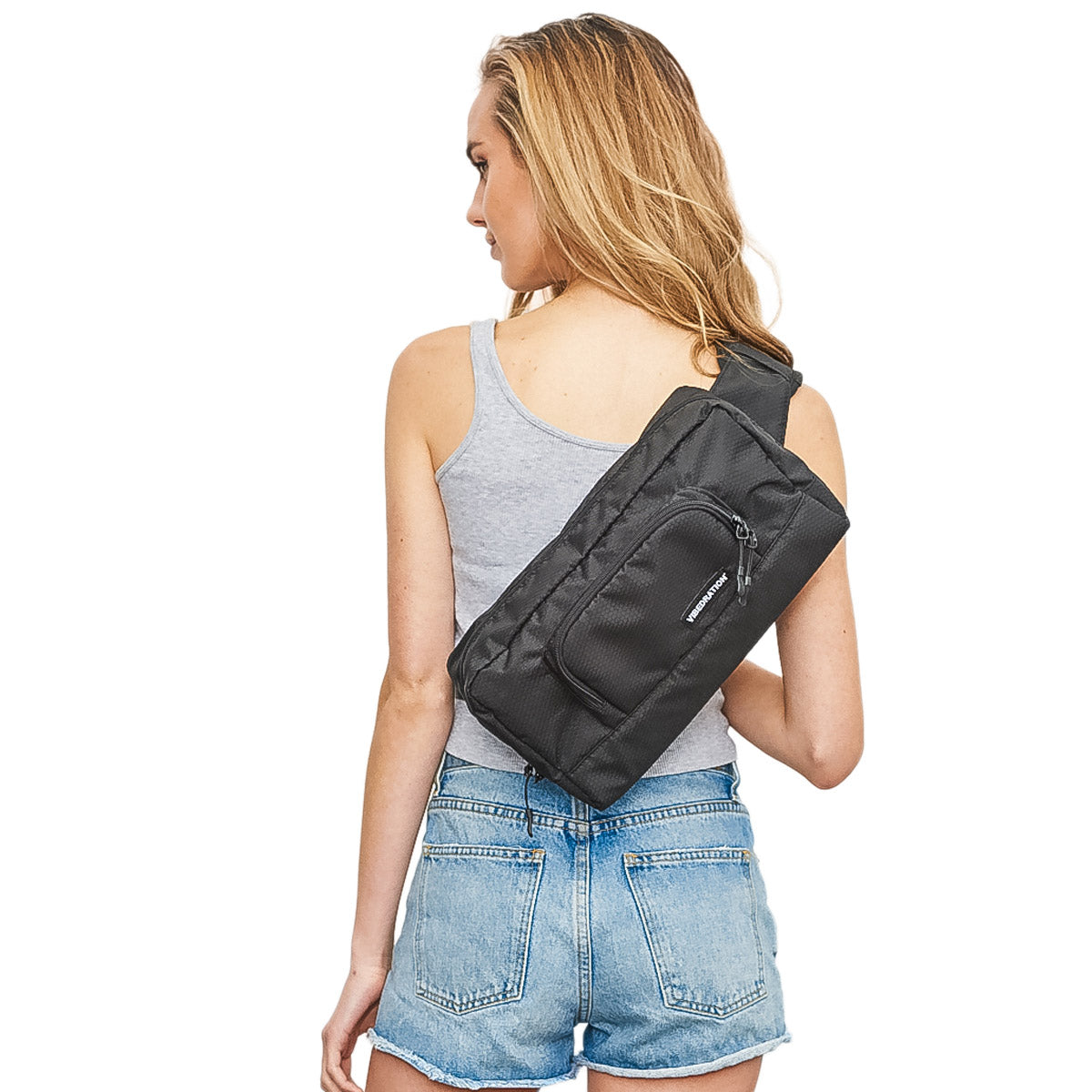 Black hex festival bag for women 1.5L