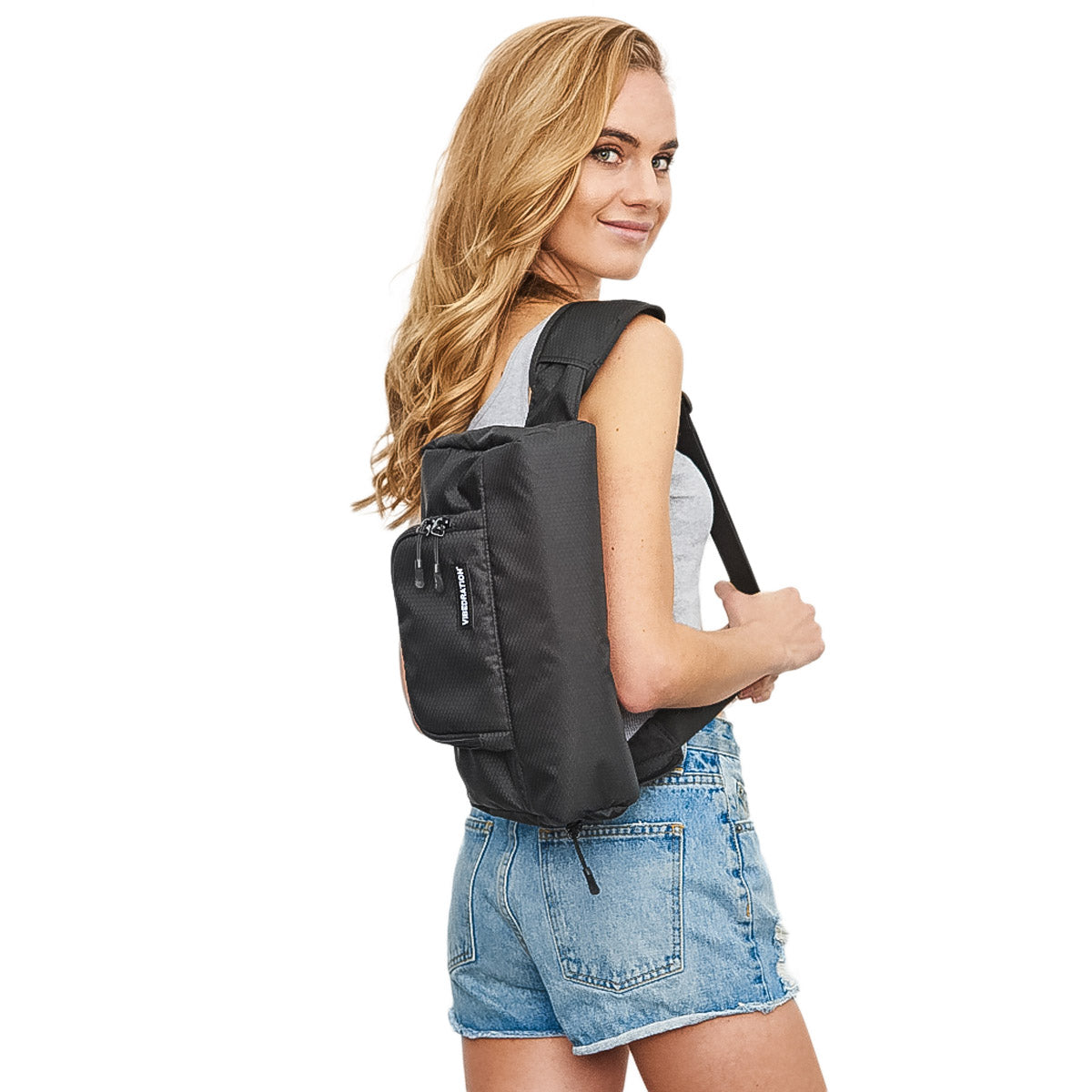 1.5L  Black hex womens crossbody bag