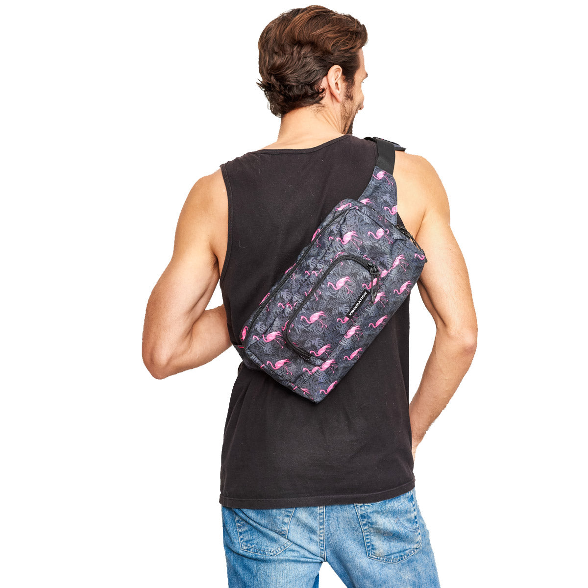 Mens Crossbody bag 1.5L Flamingo