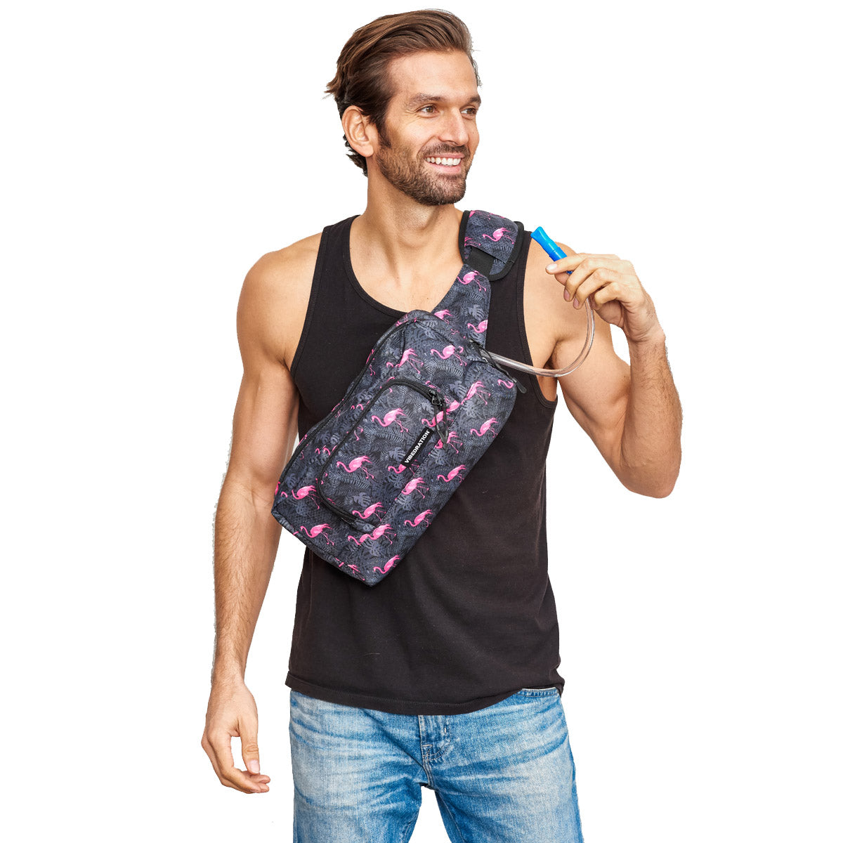 1.5 L Flamingo crossbody bag for men