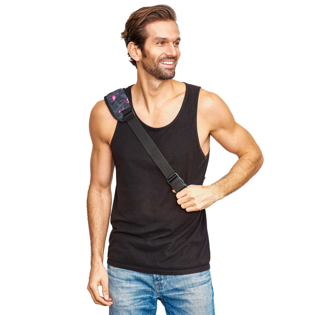 1.5 L mens festival flaming crossbody bag