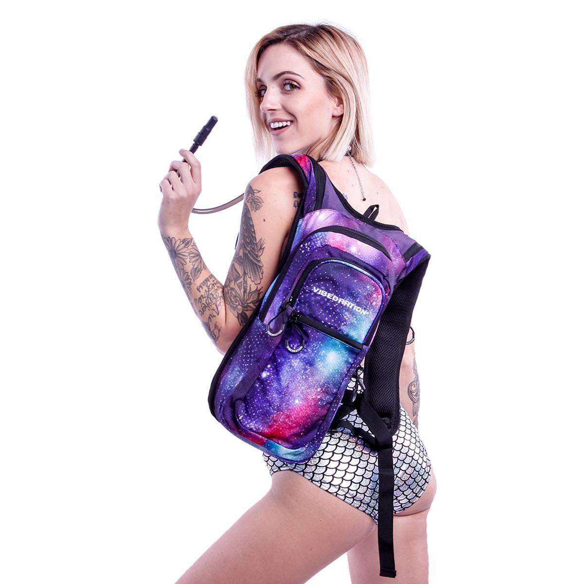 Galaxy VIP hydration pack on female