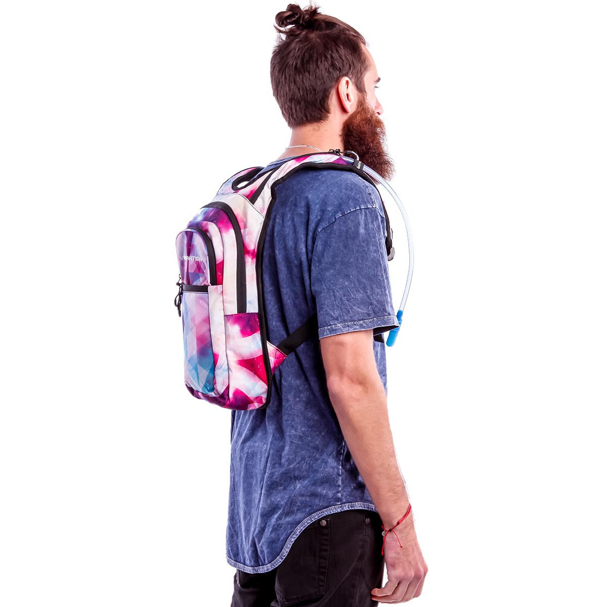 Male wearing Galaxy VIP hydration pack
