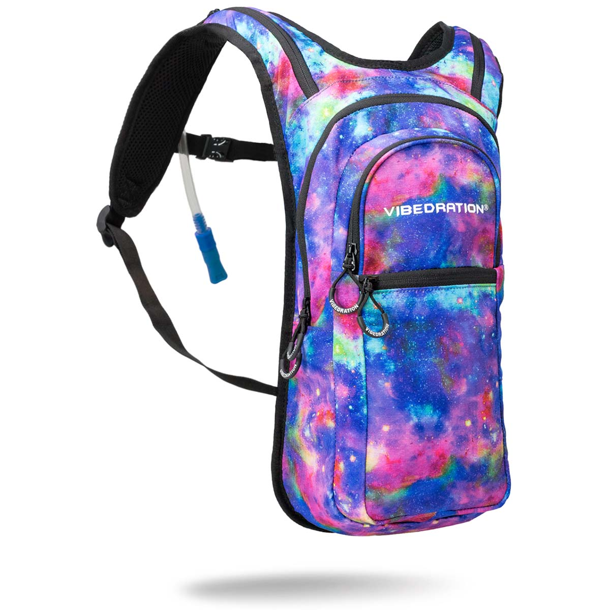 Blue and Purple Galaxy Hydration Pack with 2 Liter Water Capacity